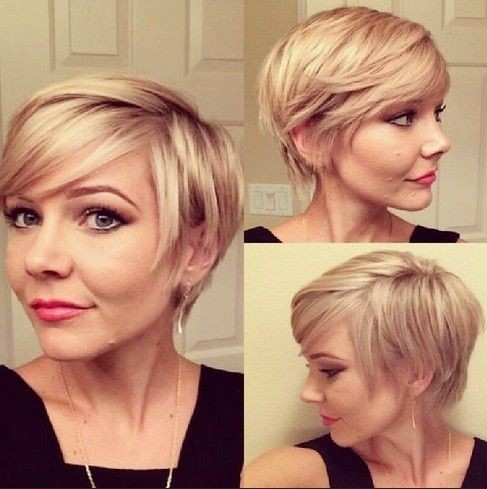 Stylish cute short hairstyles for women layered bob cut with side Short Hair With Side Swept Bangs And Layers Ideas