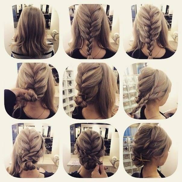 Stylish fashionable braid hairstyle for shoulder length hair hair Braid Ideas For Medium Hair Ideas