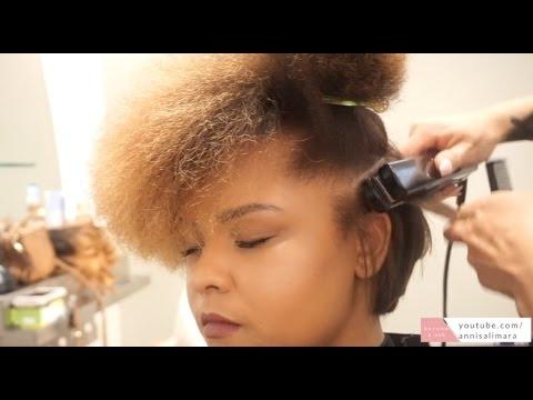 Stylish flat iron cut on short natural hair tutorial Styling Short Hair With Flat Iron Inspirations