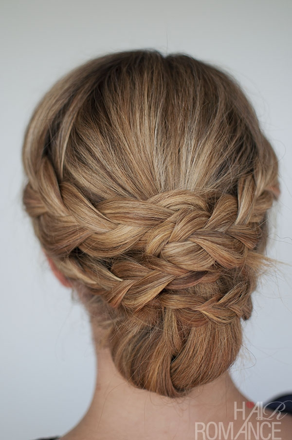 Stylish hairstyle how to easy braided updo tutorial hair romance Hair Braid Styles Tutorial Inspirations