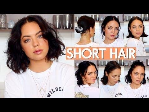 Stylish how i style my short hair very easy youtube Styling My Short Hair Choices