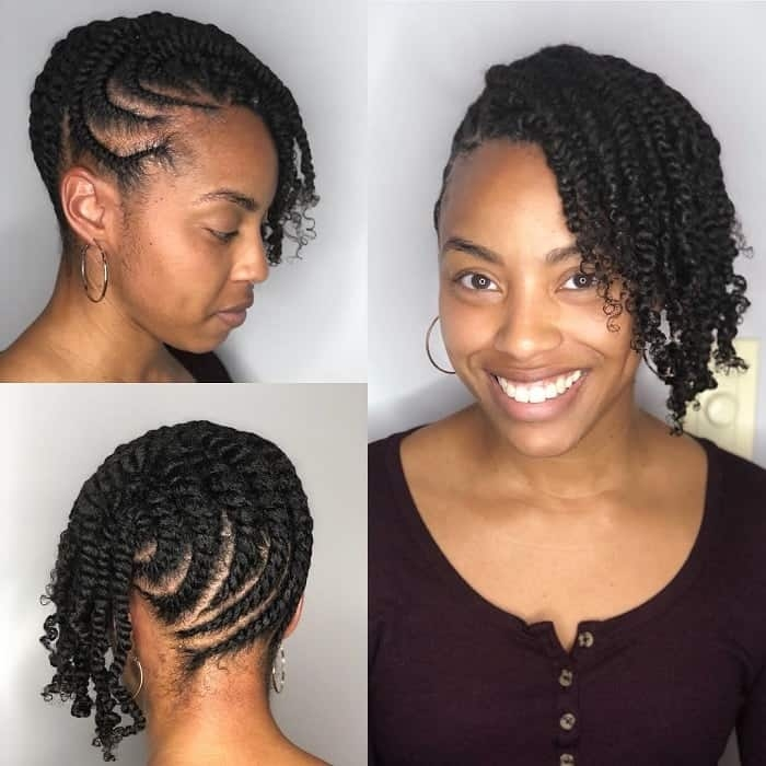 Stylish how to flat twist natural hair 21 styling ideas Twist Styles For Short Hair Ideas