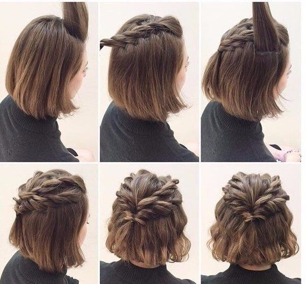 Stylish lovely twists for short hair cute hairstyles for short Cute Hairdos For Short Hair Braids Choices