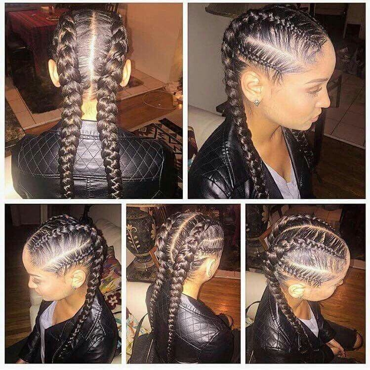 Stylish me encantan trenza africana hair styles braided African American French Braid Styles Pictures