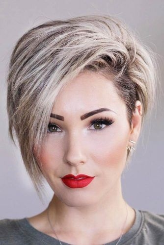 Stylish one of the trendy in the hair style is to have short hair Haircut Styles For Women Short Ideas