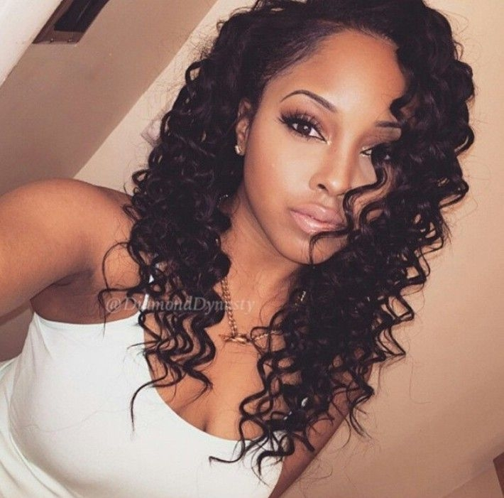 Stylish permed hair style for black women with long hair African American Permed Hairstyles Ideas