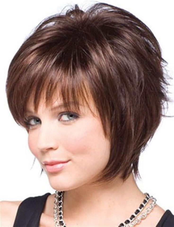 Stylish pin on fashion Hairstyles For Round Faces And Thick Hair Short Choices