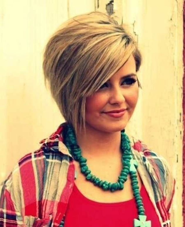 Stylish pin on frisuren Short Haircuts For Fat Round Faces Choices