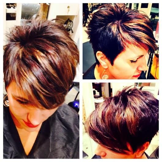 Stylish pin on hair brained ideas Short Spiky Red Hair With Blonde Highlights Ideas