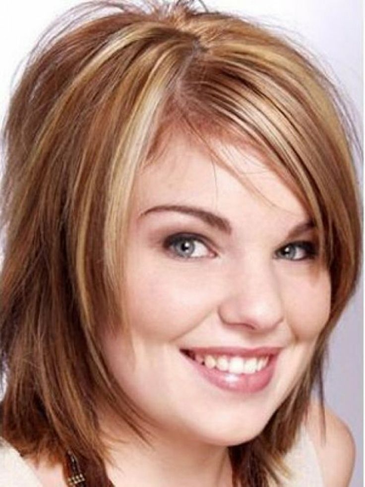 Stylish pin on hair make up Short Haircuts For Fat Round Faces Choices