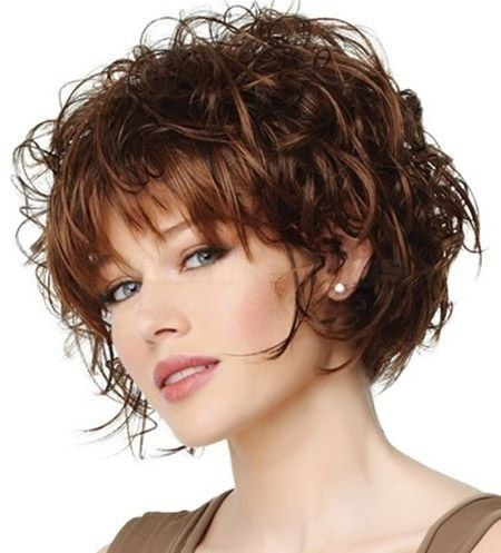 Stylish pin on hair makeup Short Hairstyle For Thick Curly Hair Ideas