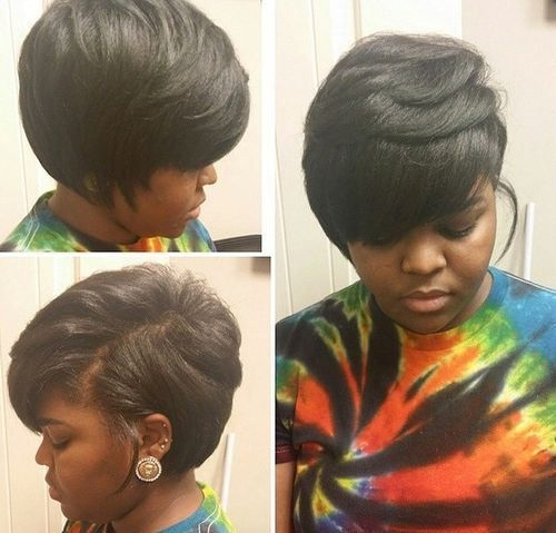 Stylish pin on hair Short Bob Hairstyles African American