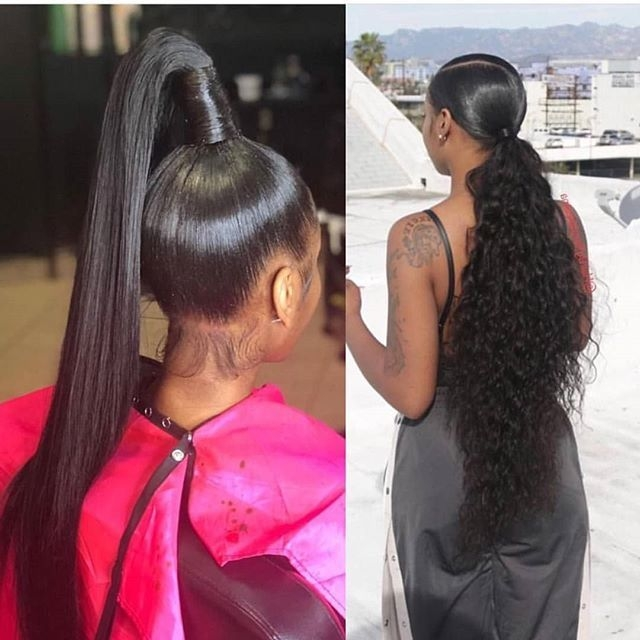 Stylish pin on hairstyles African American Weave Ponytail Hairstyles Ideas