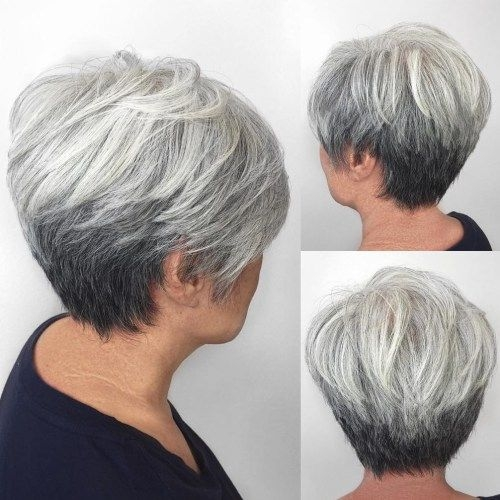 Stylish pin on hairstyles Short Grey Hair Styles Choices
