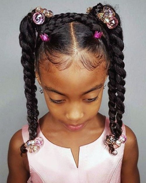 Stylish pin on kid braid styles African American Little Girls Hair Styles Designs