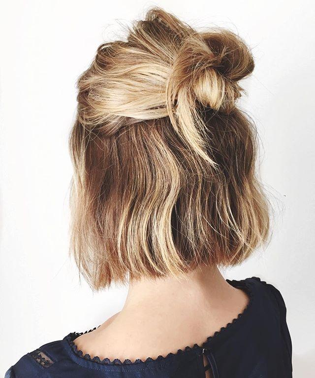 Stylish pin on major hair envy Cute Hairstyles For School Short Hair Ideas