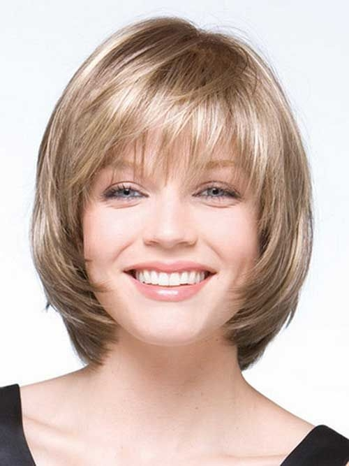 Stylish pin on my favorite hair styles and color Short Hairstyles With Bangs And Layers For Round Faces Ideas