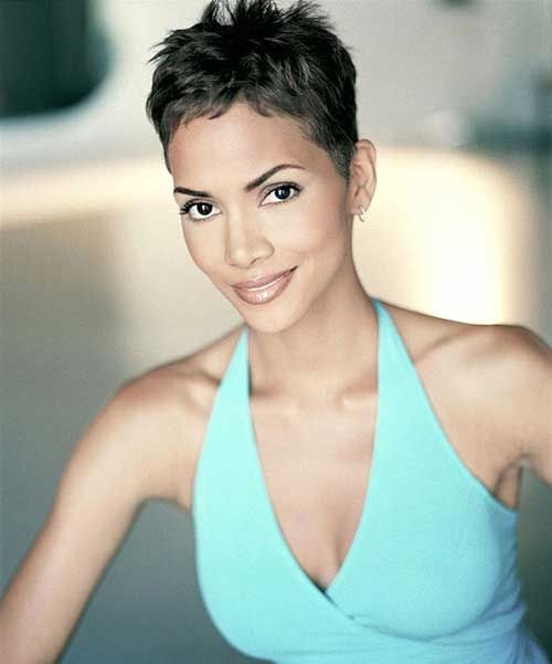 Stylish pin on pretty girls Halle Berry Short Haircut Choices