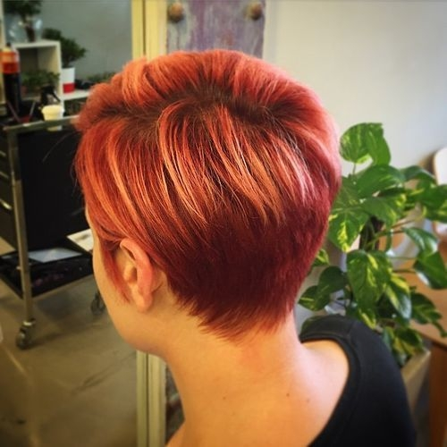 Stylish pin on short haircuts Short Spiky Red Hair With Blonde Highlights Inspirations