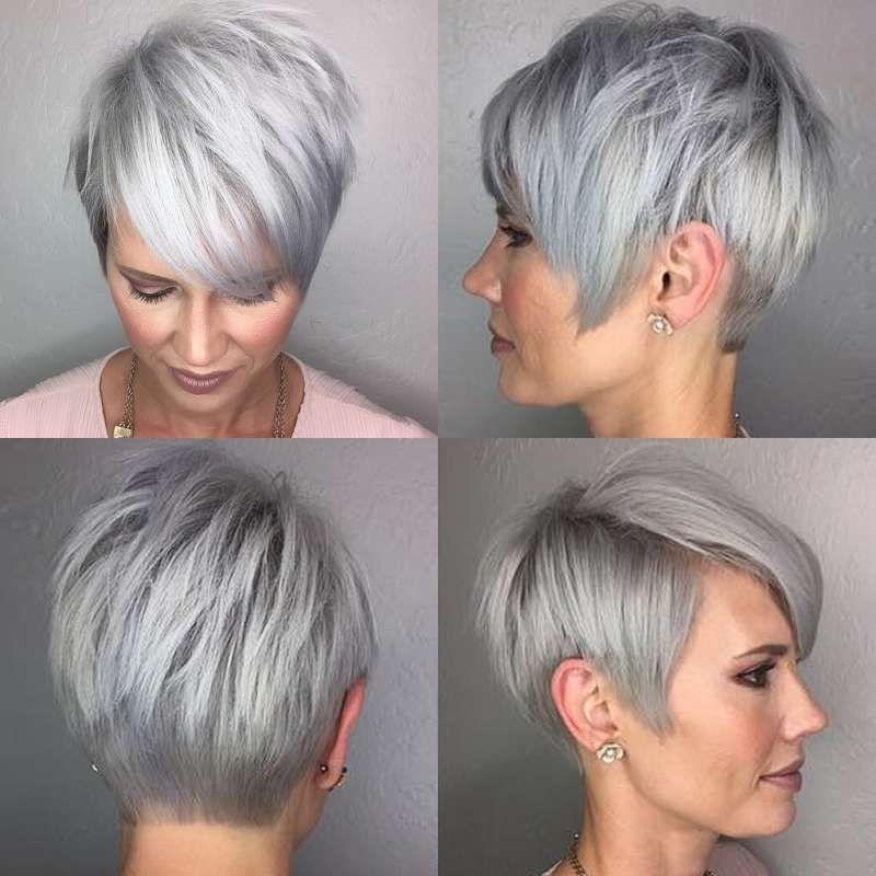 Stylish pin on style Short Haircuts For Grey Hair Inspirations