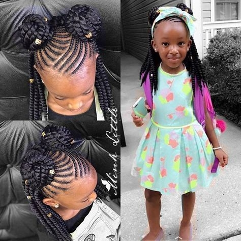 Stylish pin patreace mclaurin on wedding hairstyles toddler Braided Hairstyles African American Kids Designs