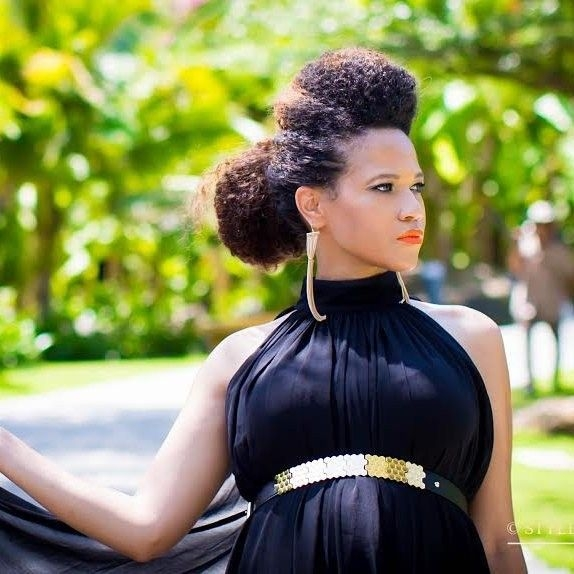 Stylish pin pretty pearls curls on naturally beautiful hair African American Hairstyles While Pregnant Designs