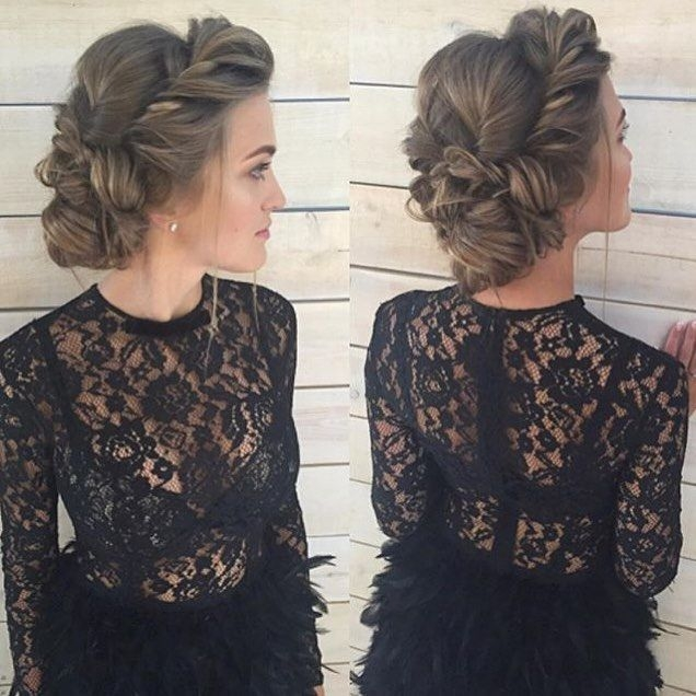 Stylish prom updos for medium hair easy updos for medium hair Formal Hairstyles For Medium Hair With Braids Inspirations