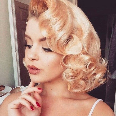 Stylish rachelfrancesx how to curl short hair vintage curls prom Pin Up Styles For Short Hair Ideas