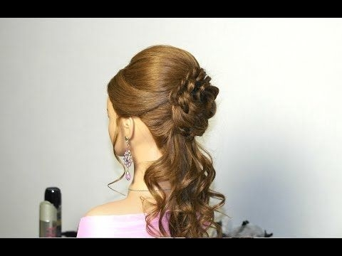 Stylish romantic prom hairstyle for long hair with braided flower Romantic Prom Hairstyle For Long Hair With Braided Flower Inspirations