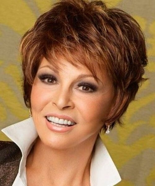 Stylish shag short hairstyle for thick hair and oval face short Short Haircut For Thick Hair And Long Face Ideas