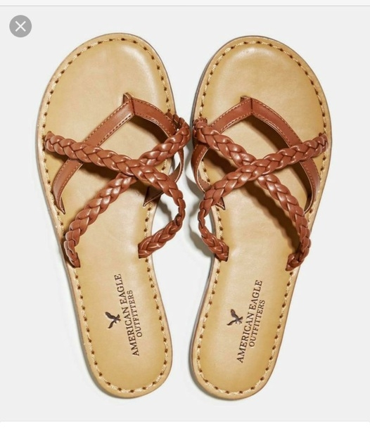 Stylish shoes american eagle outfitters braided sandal leather Brown Braided Sandals American Eagle