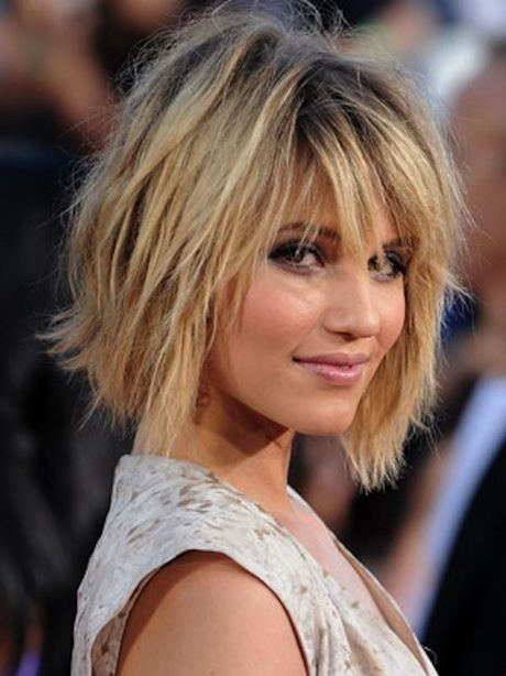 Stylish short to medium hairstyles with bangs messy bob hairstyles Short Length Hairstyles With Bangs And Layers Choices