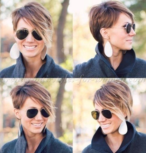 Stylish shorthairstyleswithlongbangsshorthairlong short Long Short Hair Styles Ideas