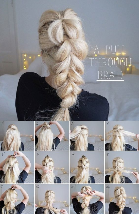 Stylish step step updo tutorials hair styles curly hair styles Braided Updos For Long Hair Tutorial Choices