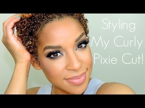 Stylish styling my naturally curly hair twa Styling My Short Hair Inspirations
