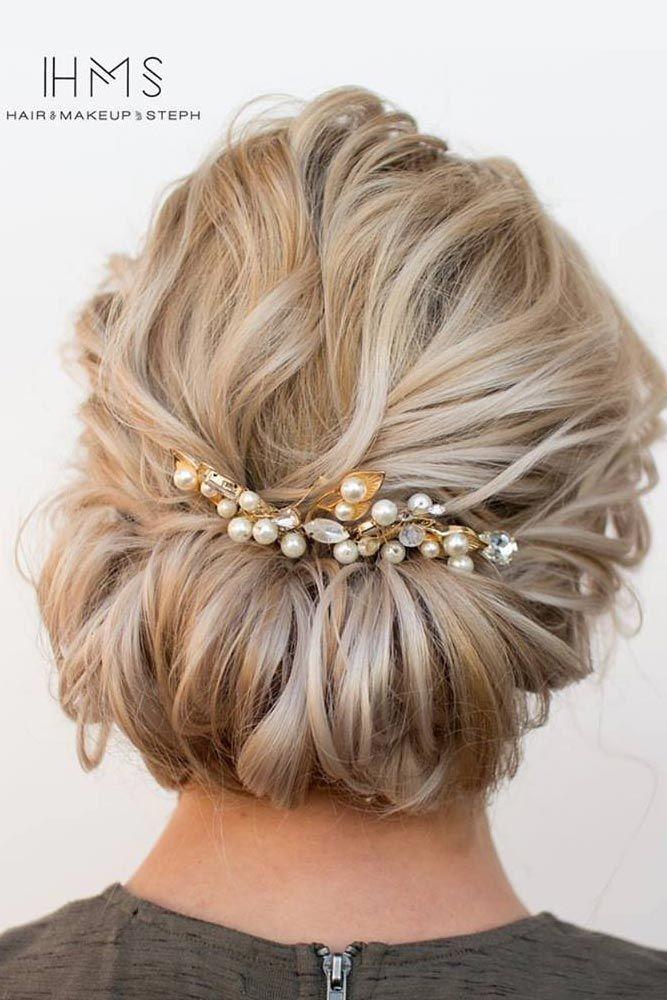Stylish wedding updos for medium hair best 25 medium wedding hair Updo Hairstyles For Short Hair Pinterest Ideas