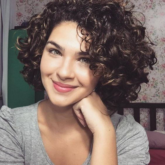 Stylish womens cute short curly hairstyles for 2017 spring Hairstyle For Short Curly Hair Female Inspirations