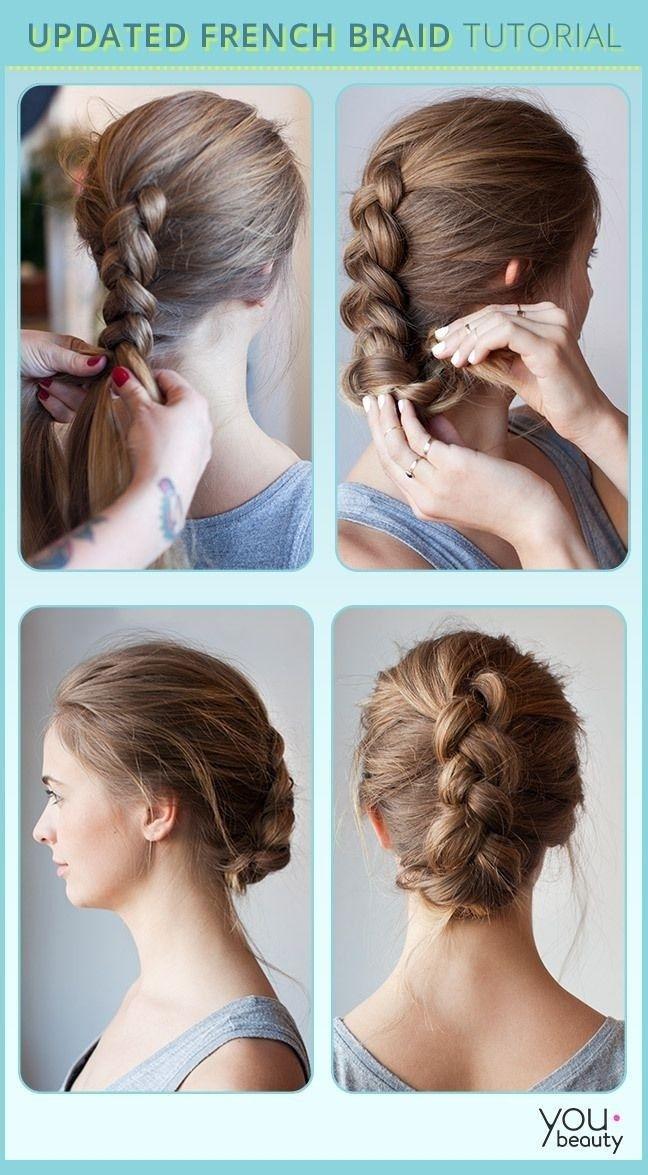 Trend 10 french braids hairstyles tutorials everyday hair styles Braid Updo Hairstyles Tutorial Choices