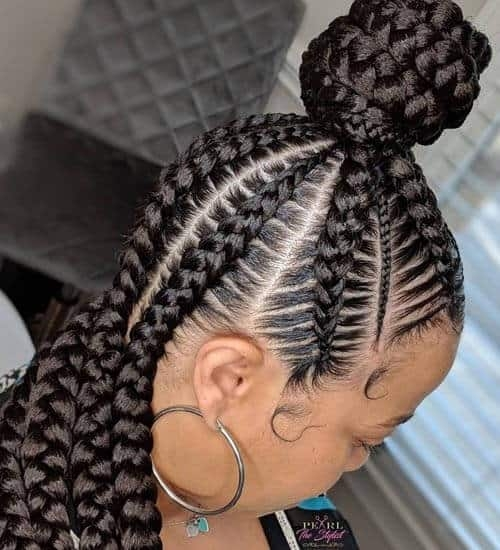 Trend 10 popular black braided hairstyles for women styles at life Simple Braid Styles For Black Hair Ideas