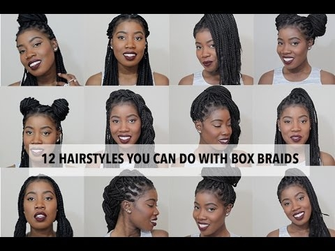 Trend 12 easy hairstyles you can do with box braids Hair Styles For Box Braids Choices