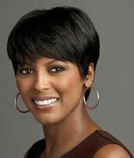 Trend 12 short haircuts for black women with round faces Short Hairstyles For African American Round Faces Designs