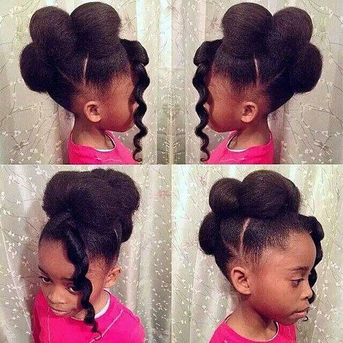 Trend 15 se frisuren fr schwarze mdchen black kids African American Hairstyles To Do At Home Designs
