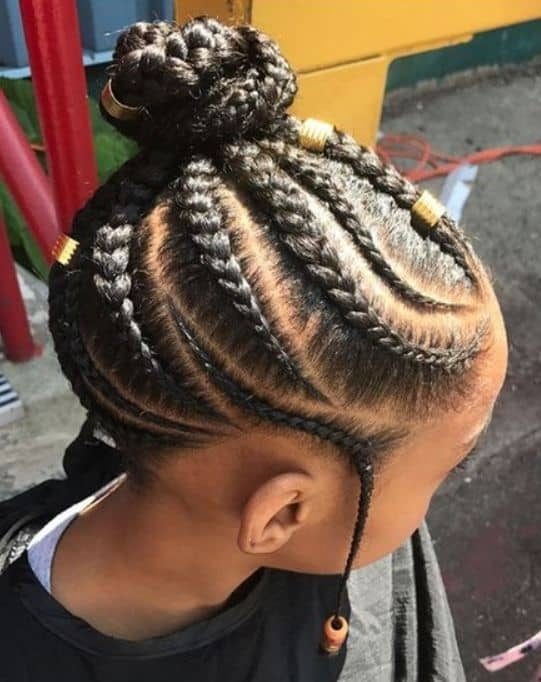 Trend 20 elegant little girl braids with beads hairstylecamp Braided Hair Styles For Little Girls Inspirations