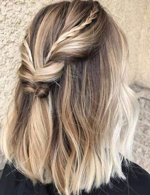 Trend 20 stunning diy prom hairstyles for short hair Prom Hairstyles For Short Hair With Braids Inspirations