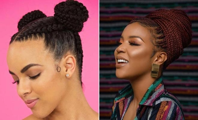 Trend 23 beautiful braided updos for black hair page 2 of 2 Updo Braid Styles For Black Hair Inspirations
