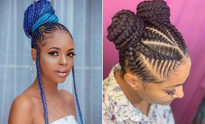 Trend 23 braided bun hairstyles for black hair stayglam Braided Hair Bun Styles Ideas