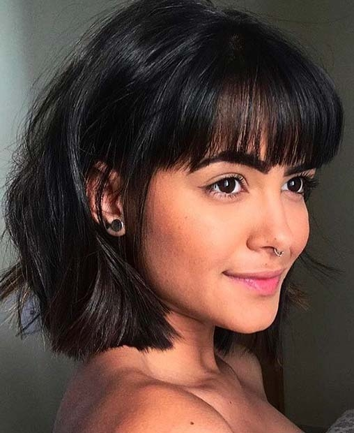 Trend 23 trendy ways to wear short hair with bangs stayglam Cute Short Hairstyles With Long Bangs Inspirations
