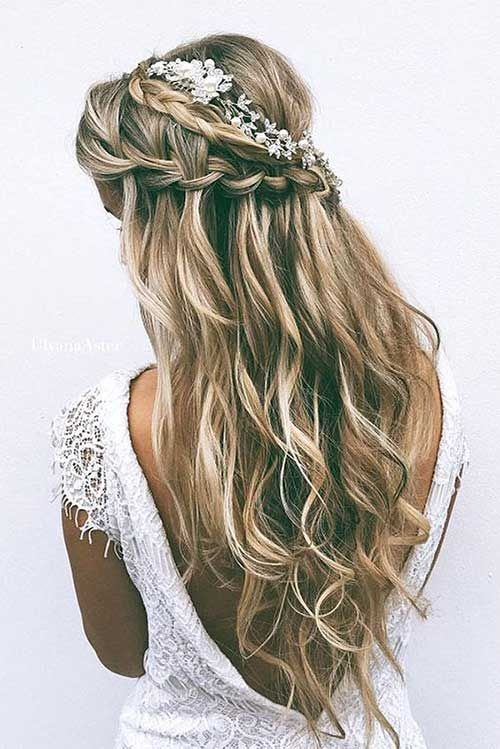 Trend 25 elegant half updo wedding hairstyles 3 wedding Wedding Hairstyles For Long Hair Half Up Half Down With Braids Ideas