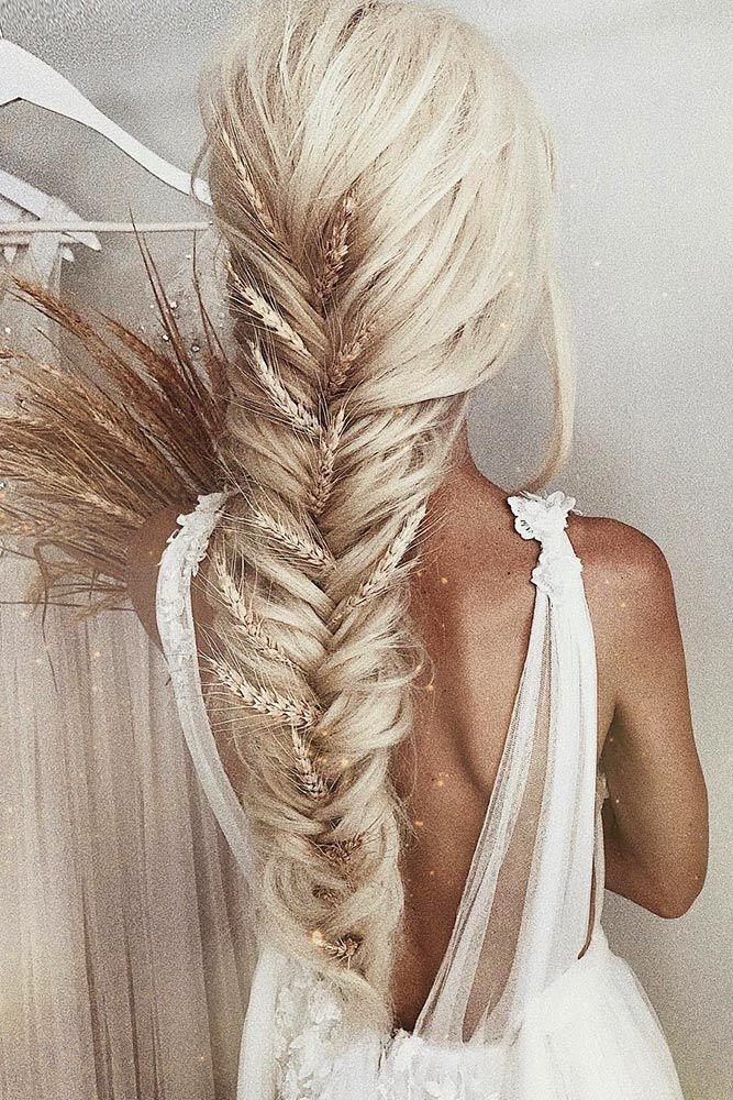 Trend 30 pretty cool rustic wedding hairstyles wedding forward Fishtail Braid Hairstyles For Wedding Ideas