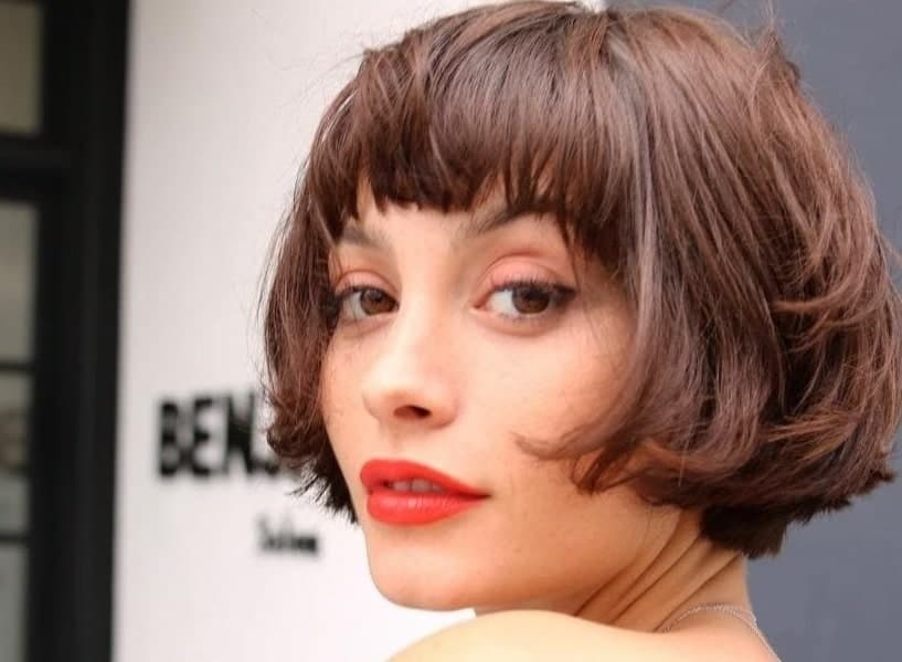 Trend 40 stunning short bob haircuts with bangs for 2020 Short Hair Bobs With Bangs Ideas